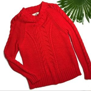 LOFT | sz MP chunky cable knit sweater